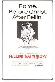 "Movie poster for 1969's ""Fellini Satyricon."""