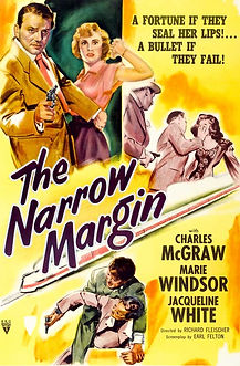"""Movie poster for 1952's """"The Narrow Margin."""""""
