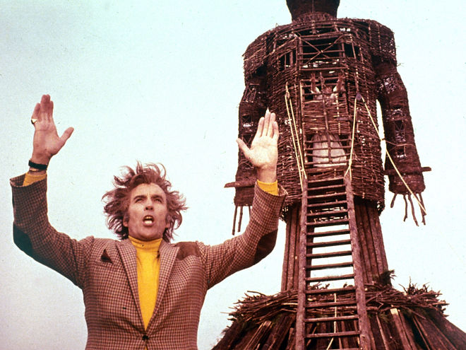 "Christopher Lee in 1973's ""The Wicker Man."""