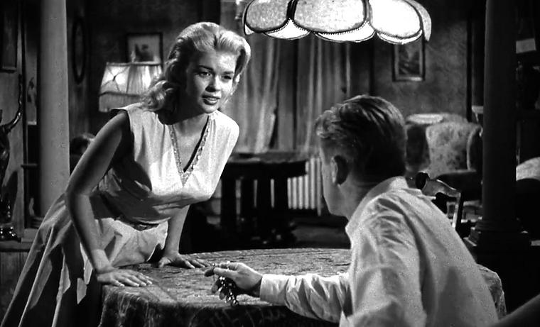 """Movie still from 1957's """"The Burglar."""""""