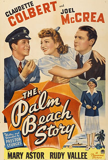 "Movie poster for 1942's ""The Palm Beach Story."""