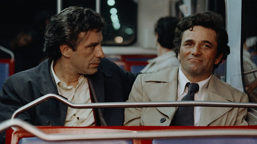 "John Cassavetes and Peter Falk in 1976's ""Mikey and Nicky."""