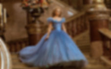 "Movie still from 2015's ""Cinderella""."