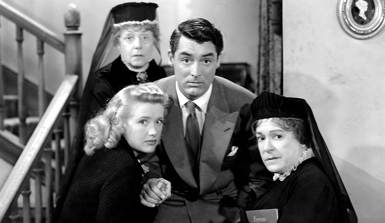 """Movie still from 1944's """"Arsenic and Old Lace."""""""