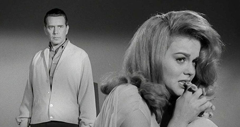 "John Forsythe and Ann-Margret in 1964's ""Kitten with a Whip."""
