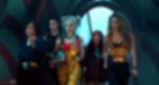 Rosie Perez, Mary Elizabeth Winstead, Margot Robbie, Ella Jay Basco, and Jurnie Smollett-Bell