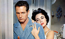"""Paul Newman and Elizabeth Taylor in 1958's """"Cat On a Hot Tin Roof."""""""