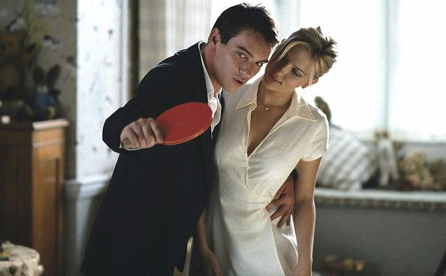 "Jonathan Rhys Meyers and Scarlett Johansson in 2005's ""Match Point."""