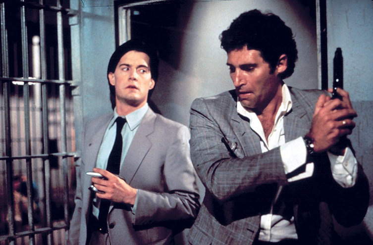 "Kyle MacLachlan and Michael Nouri in 1987's ""The Hidden."""