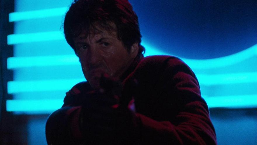 """Sylvester Stallone in 1986's """"Cobra."""""""