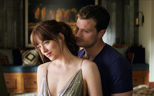 "Dakota Johnson and Jamie Dornan in 2015's ""Fifty Shades of Grey."""