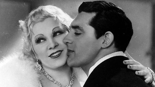 "Mae West and Cary Grant in 1933's ""I'm No Angel."""