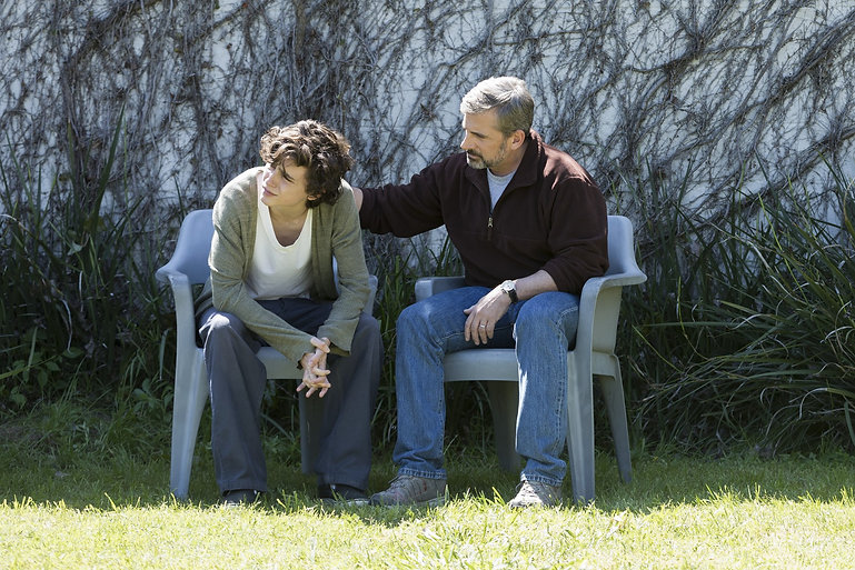 """Timothée Chalamet and Steve Carell in 2018's """"Beautiful Boy."""""""