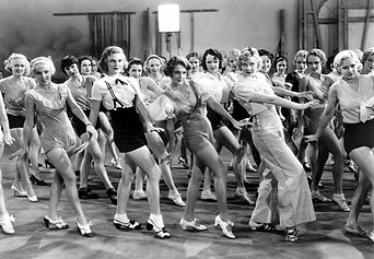 "Movie still from 1933's ""42nd Street""."