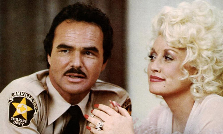 """Burt Reynolds and Dolly Parton in 1982's """"The Best Little Whorehouse in Texas."""""""