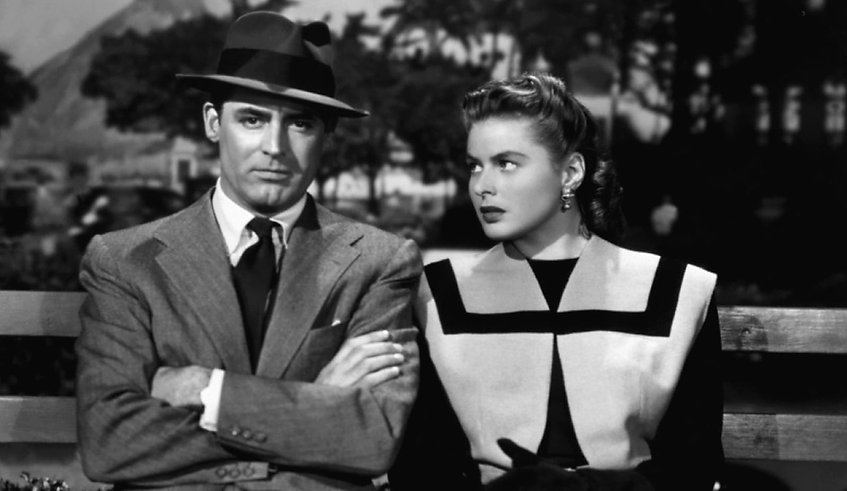"""Cary Grant and Ingrid Bergman in 1946's """"Notorious."""""""