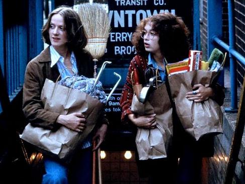 "Anita Skinner and Melanie Mayron in 1978's ""Girlfriends."""