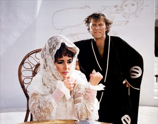 "Elizabeth Taylor and Richard Burton in 1968's ""Boom!"""