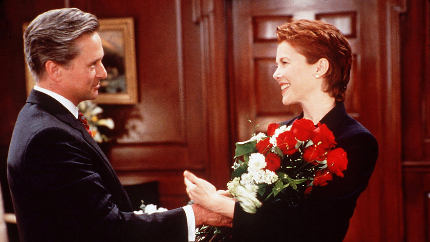 """Michael Douglas and Annette Bening in 1995's """"The American President."""""""