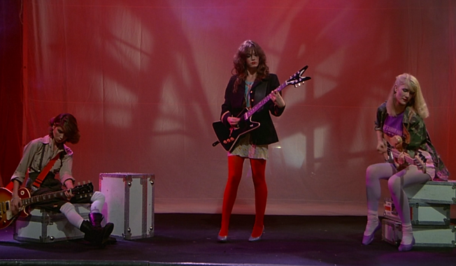 """Marin Kanter, Diane Lane, and Laura Dern in 1981's """"Ladies and Gentlemen, The Fabulous Stains."""""""