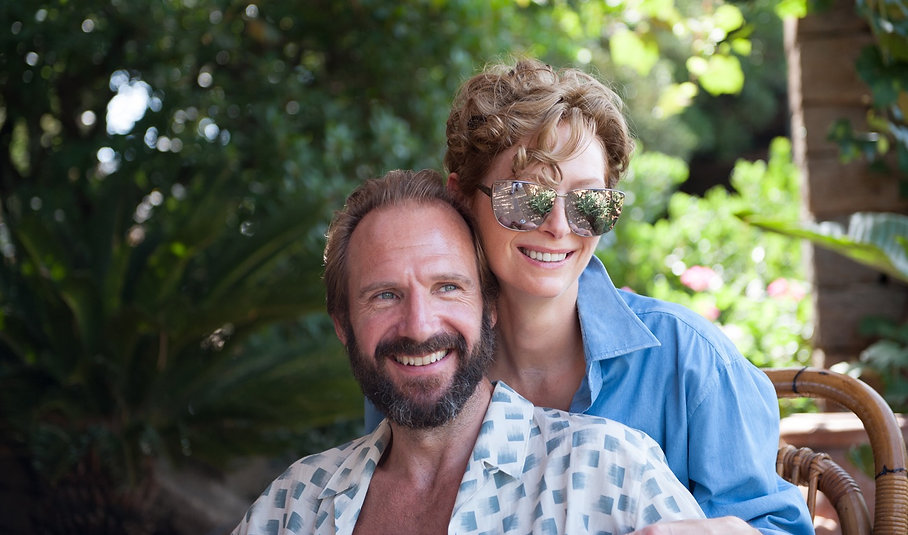 "Ralph Fiennes and Tilda Swinton in 2016's ""A Bigger Splash."""