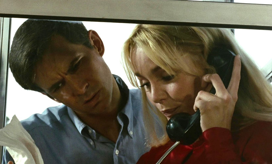 """Anthony Perkins and Tuesday Weld in 1968's """"Pretty Poison."""""""