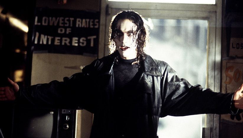 "Brandon Lee in 1994's ""The Crow."""