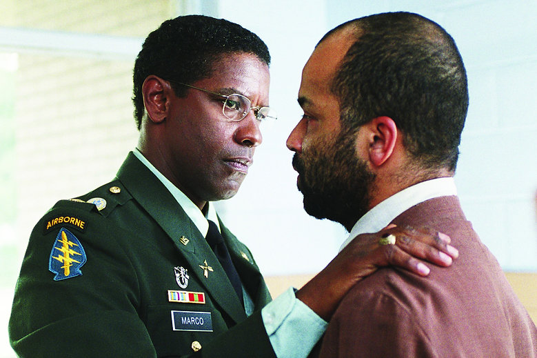 "Denzel Washington and Jeffrey Wright in 2004's ""The Manchurian Candidate."""