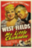 """Movie poster for 1940's """"My Little Chickadee."""""""