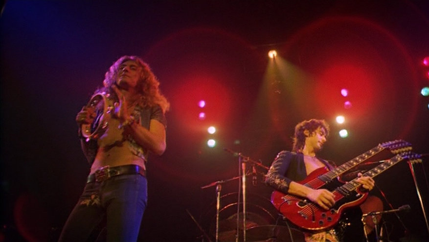 """Robert Plant and Jimmy Page in 1976's """"The Song Remains the Same."""""""
