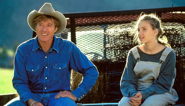 """Robert Redford and Scarlett Johansson in 1998's """"The Horse Whisperer."""""""