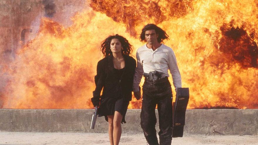 """Salma Hayek and Antonio Banderas in 1995's """"Desperado."""""""