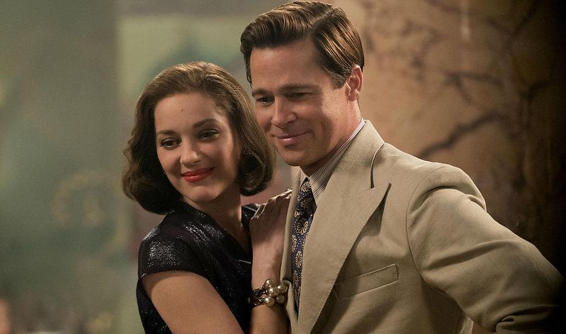 "Movie still from 2016's ""Allied."""