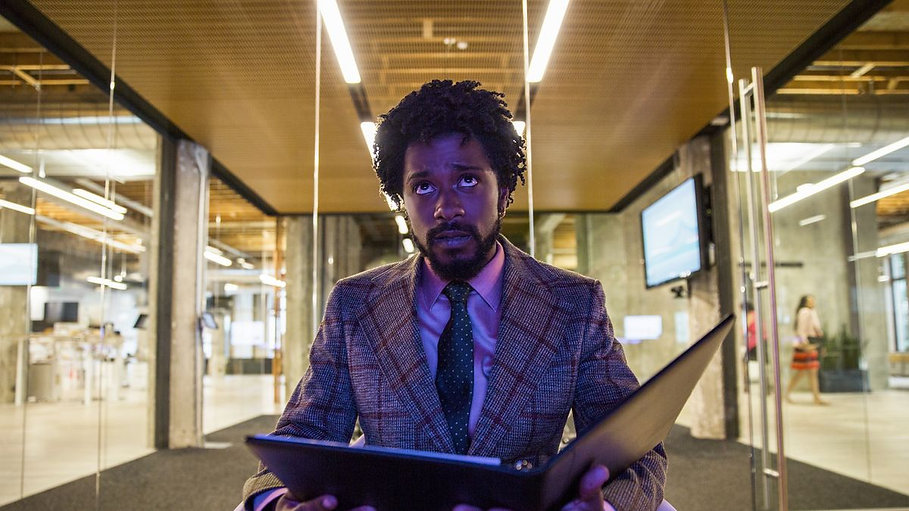 "Lakeith Stanfield in 2018's ""Sorry to Bother You."""