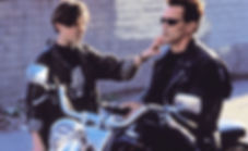 "Edward Furlong and Arnold Schwarzenegger in 1991's ""Terminator 2: Judgement Day."""