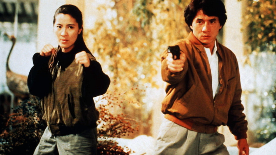 "Michelle Yeoh and Jackie Chan in 1992's ""Police Story 3: Super Cop."""