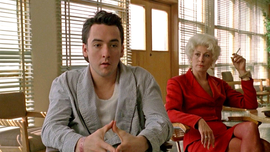 """John Cusack and Anjelica Huston in 1990's """"The Grifters."""""""