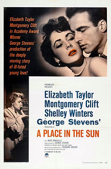"""Movie poster for 1951's """"A Place in the Sun."""""""