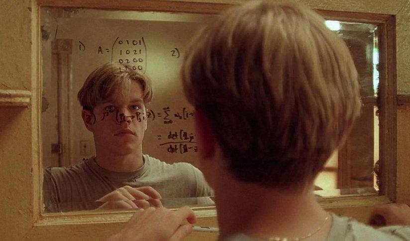 "Matt Damon in 1997's ""Good Will Hunting."""