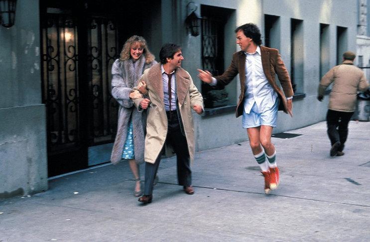 "Shelley Long, Henry Winkler, and Michael Keaton in 1982's ""Night Shift."""