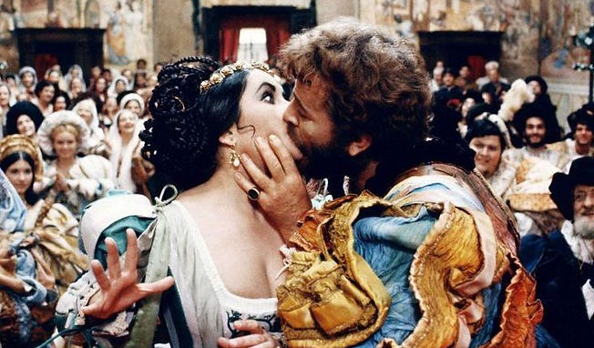 "Elizabeth Taylor and Richard Burton in 1967's ""The Taming of the Shrew."""