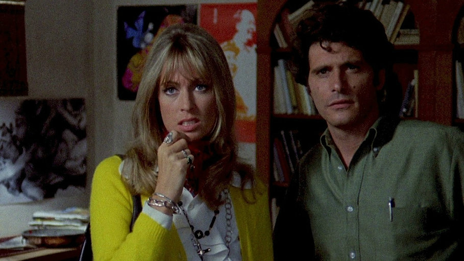 "Suzy Kendall and Tony Musante in 1970's ""The Bird with the Crystal Plumage."""