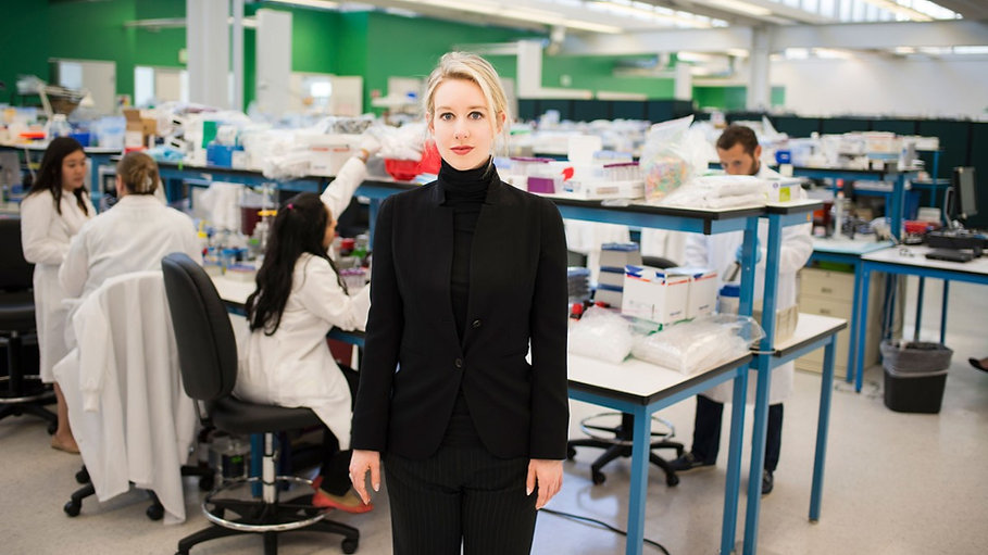 """Elizabeth Holmes in a photo featured in 2019's """"The Inventor: Out for Blood in Silicon Valley."""""""