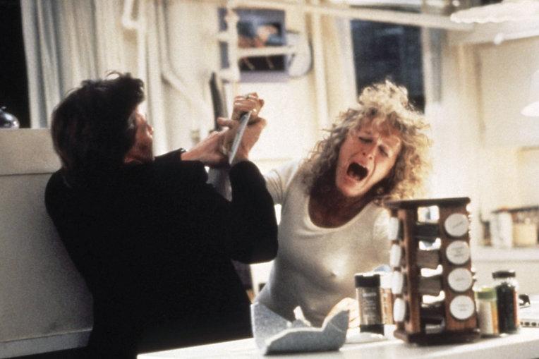 "Movie still from 1987's ""Fatal Attraction."""