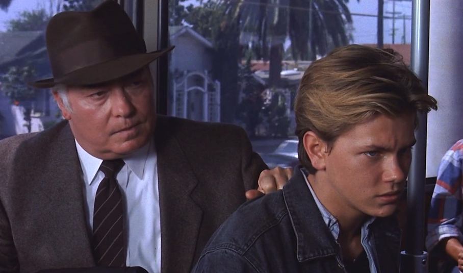 "Richard Bradford and River Phoenix in 1988's ""Little Nikita."""