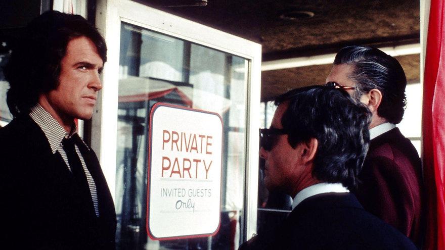 "Warren Beatty in 1974's ""The Parallax View."""