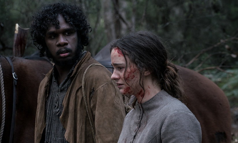 """Baykali Ganambarr and Aisling Franciosi in 2019's """"The Nightingale."""""""