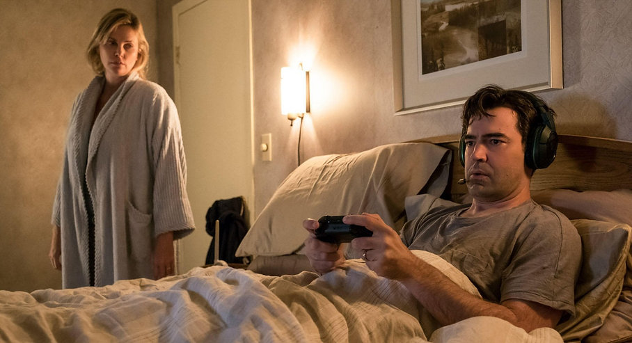 """Charlize Theron and Ron Livingston in 2018's """"Tully."""""""