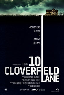 "Movie poster for 2016's ""10 Cloverfield Lane."""