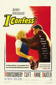 "Movie poster for 1953's ""I Confess."""